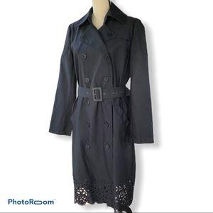Isaac Mizrahi | Black Cut our Trench Coat